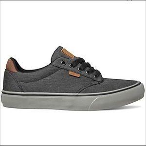 Vans Men's Dark Grey Atwood Deluxe Shoes Size 10